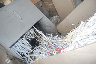 securely shredding paper
