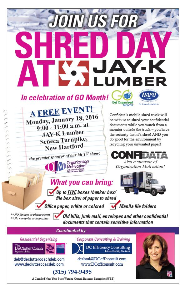Join us for Shred Dat at Jay-K Lumber Monday January 18, 2016