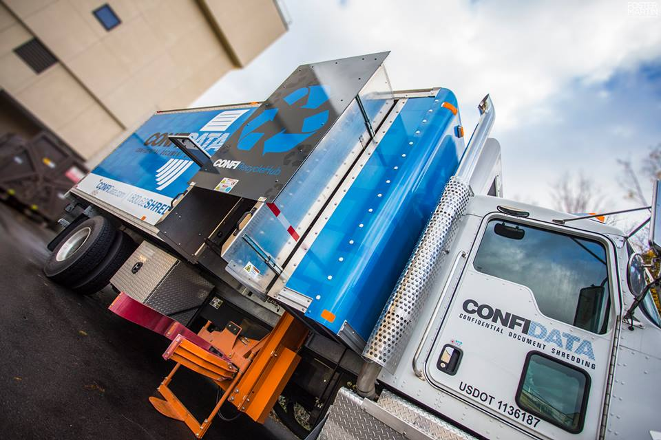 Confidata mobile paper shredding truck